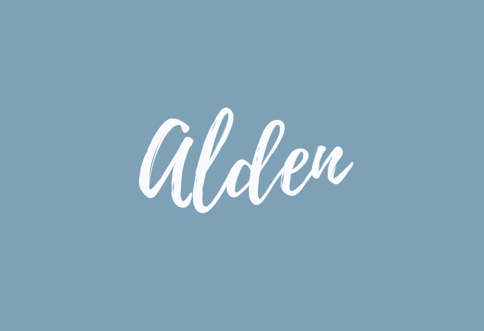 Alden Name Meaning