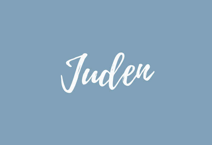 juden name meaning
