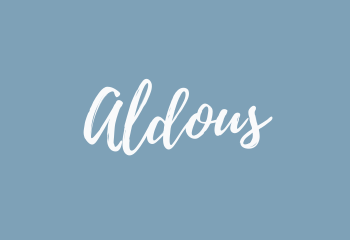 aldous name meaning