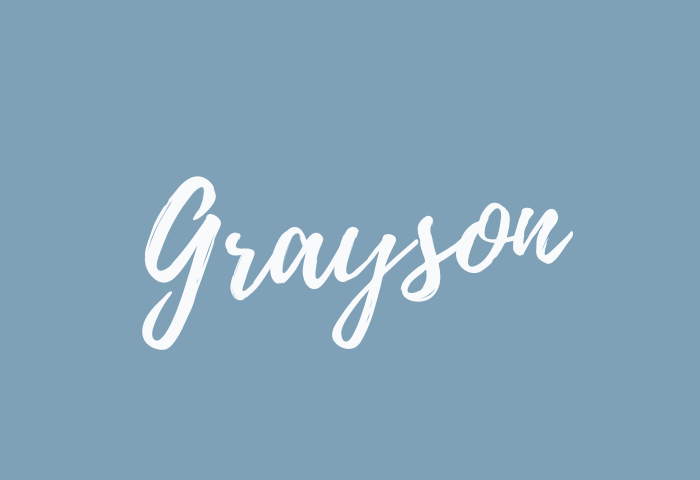 grayson name meaning