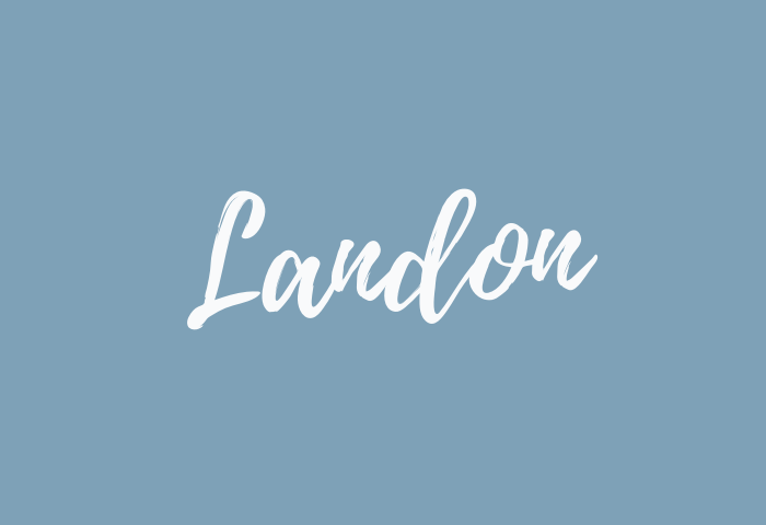 landon name meaning