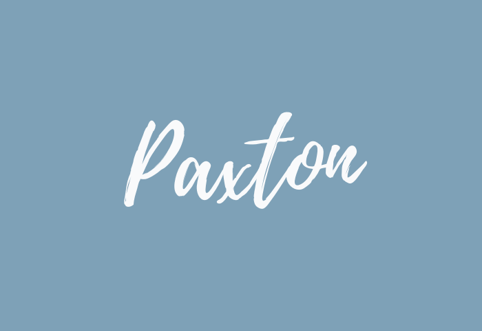 paxton name meaning