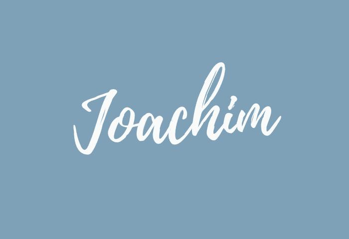 Joachim name meaning