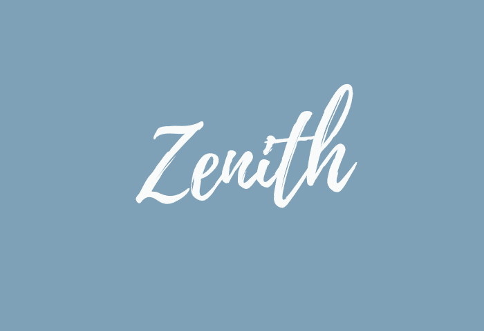 Zenith Name Meaning