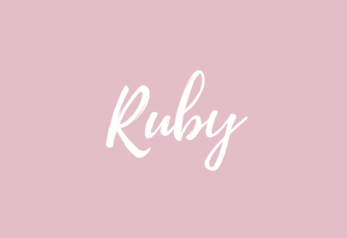 ruby name meaning