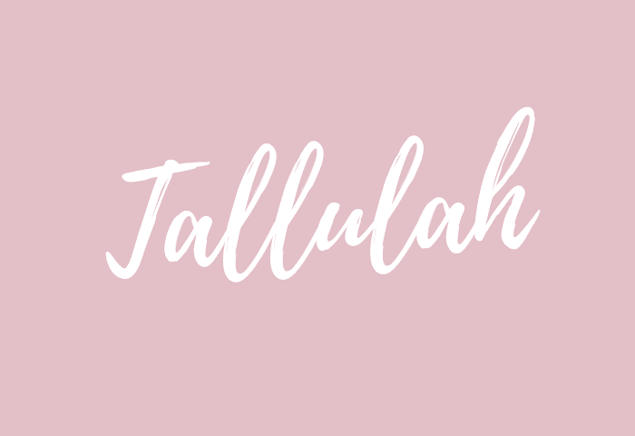 Tallulah name meaning