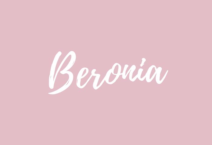 beronia name meaning