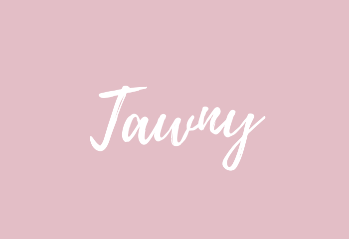 tawny name meaning