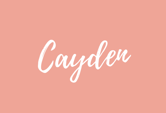 Cayden name meaning