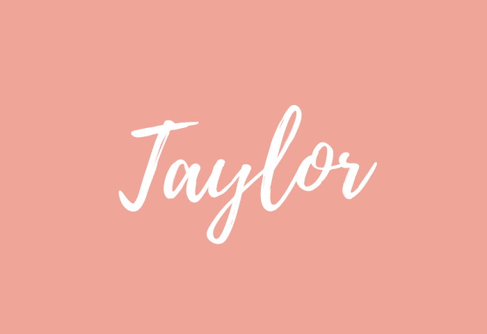 taylor name meaning