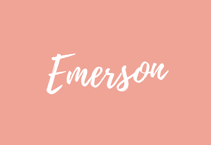 emerson name meaning