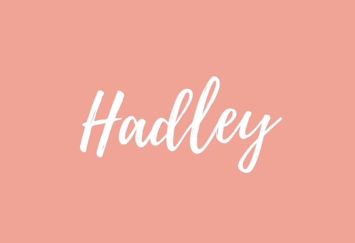 hadley name meaning