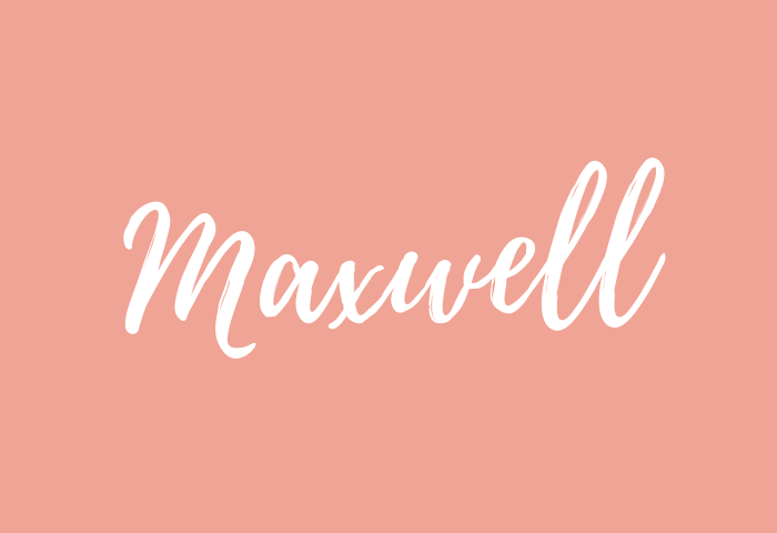 maxwell Name Meaning