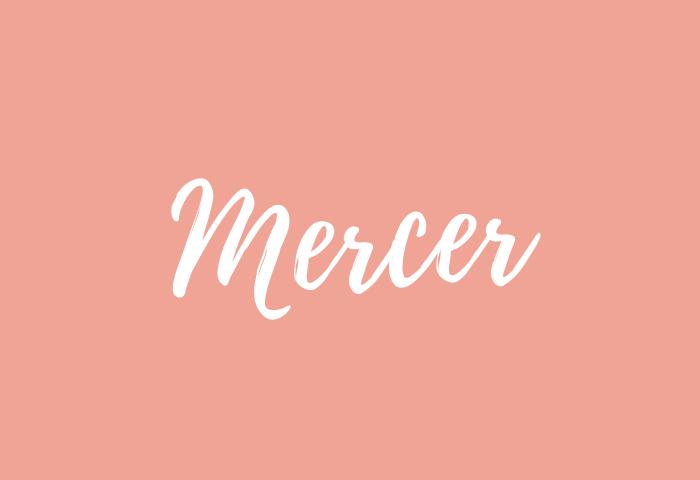 mercer name meaning