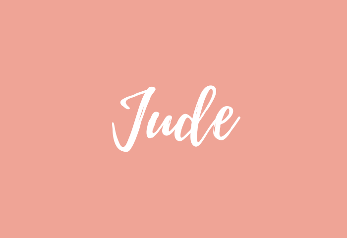 Jude Name Meaning