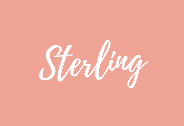 sterling name meaning