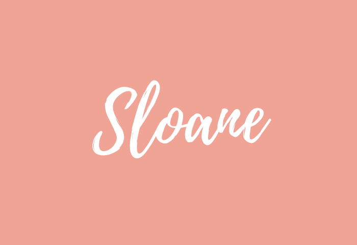 sloane name meaning