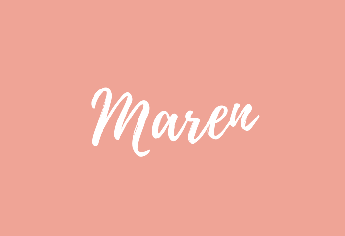 maren name meaning