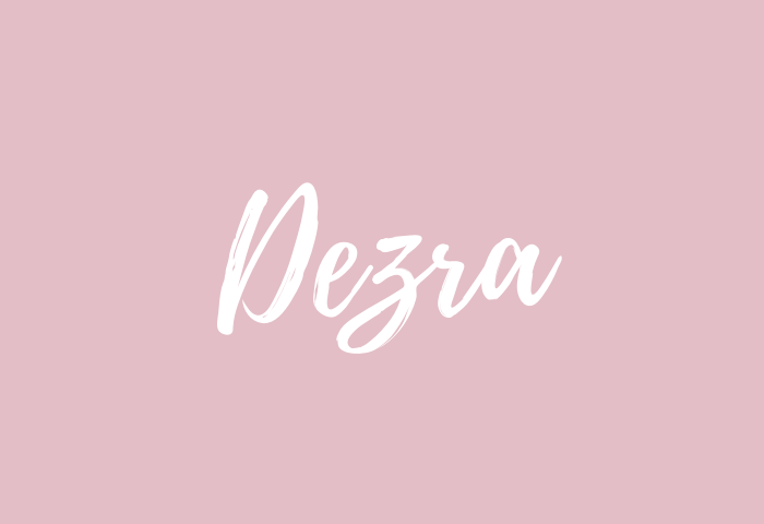 Dezra name meaning