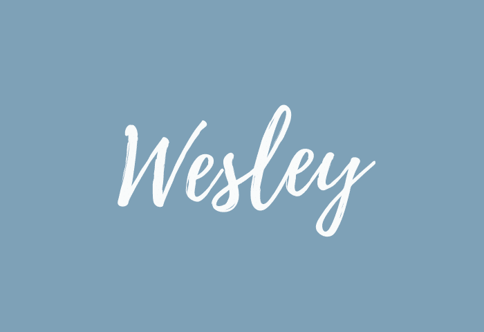wesley name meaning