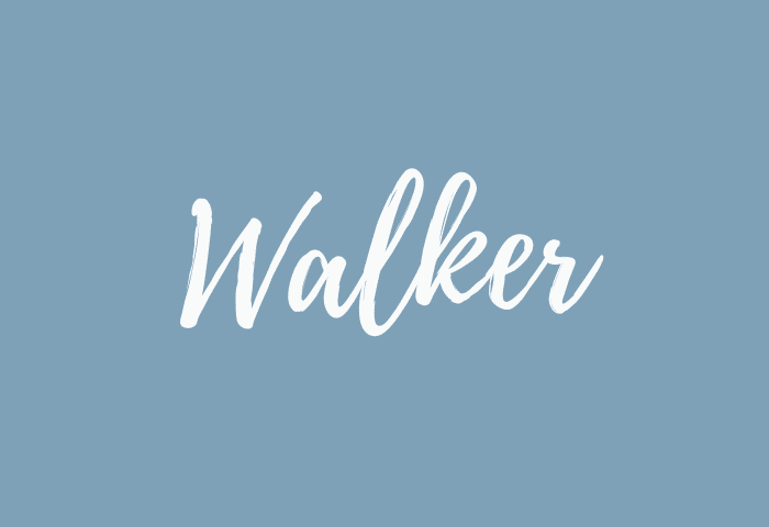 Walker name meaning