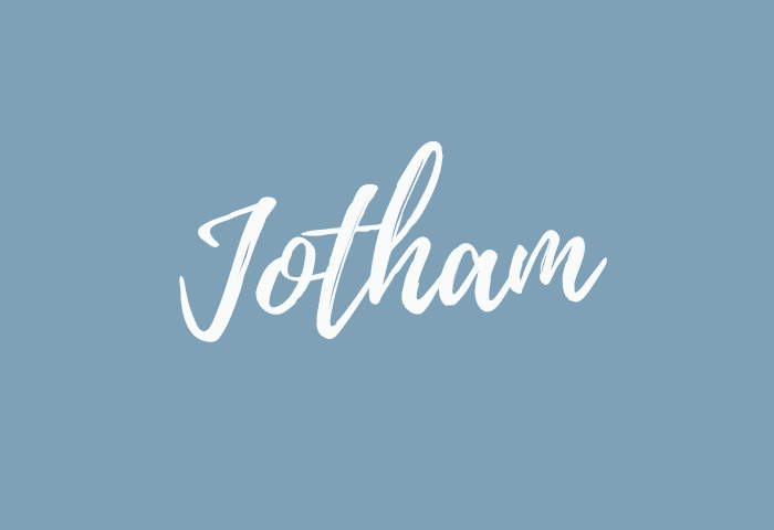 jotham name meaning