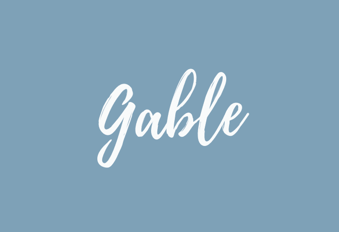 Gable name meaning