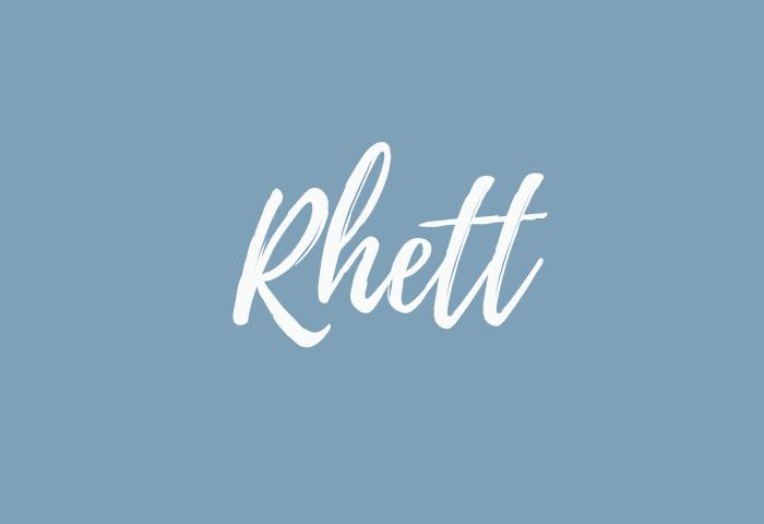 Rhett name meaning
