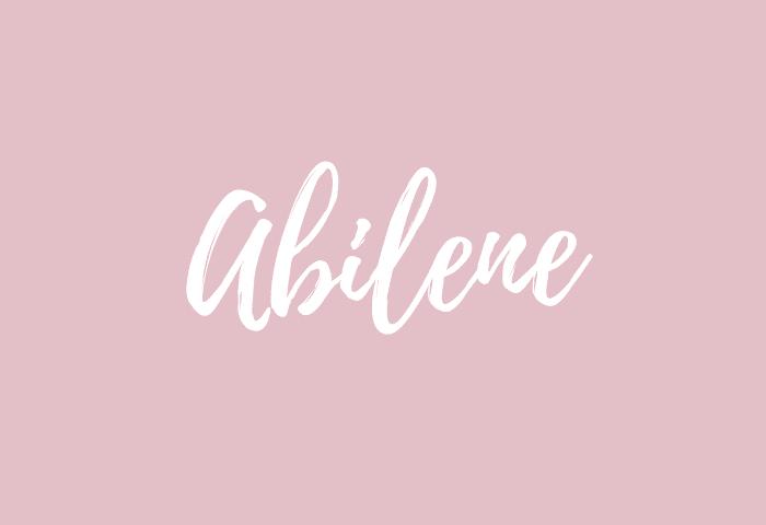 abilene name meaning