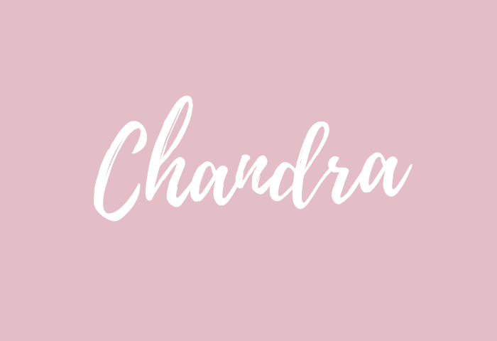 chandra name meaning