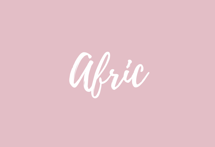 Afric name meaning