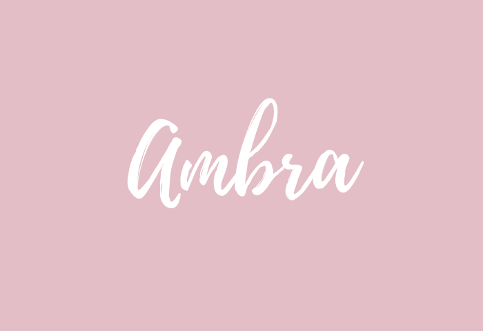 ambra name meaning