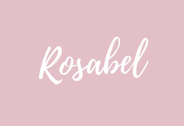 Rosabel name meaning