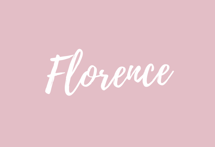 Florence Name Meaning