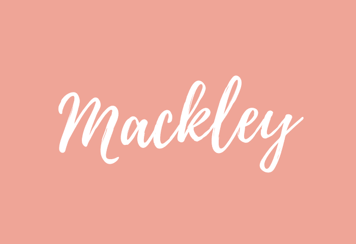 Mackley name meaning