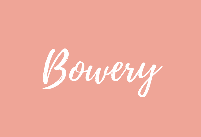 Bowery name meaning
