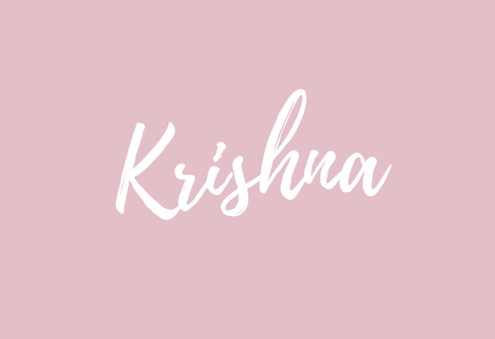 Krishna name meaning