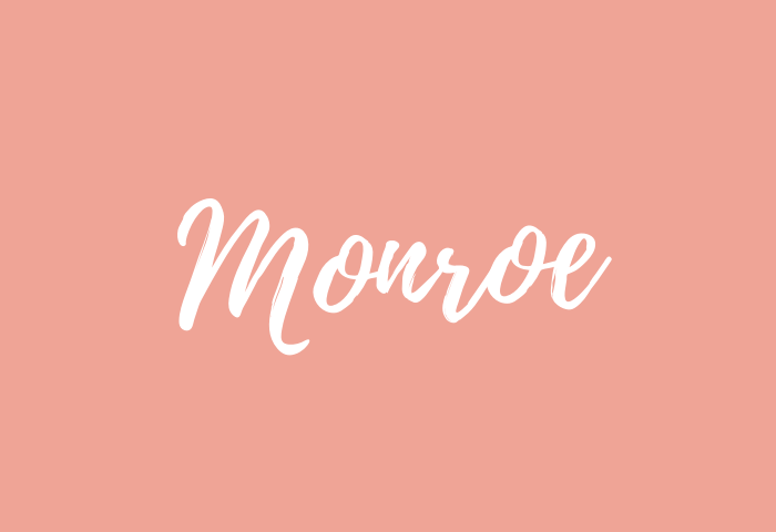 monroe name meaning
