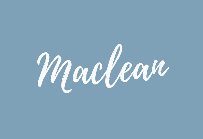 Maclean name meaning