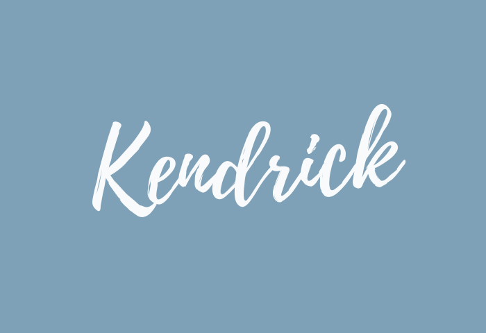 Kendrick name meaning