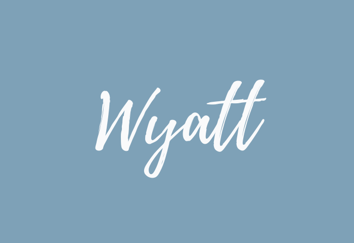 wyatt name meaning
