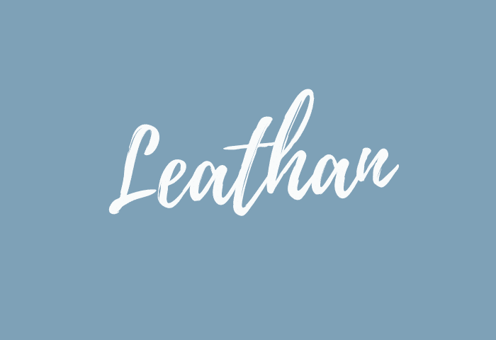 Leathan name meaning