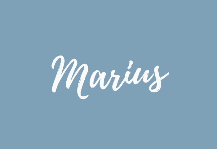 Marius name meaning