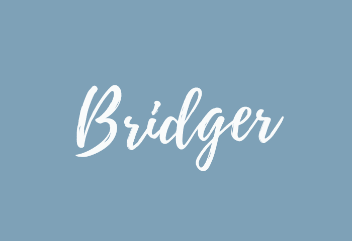Bridger name meaning