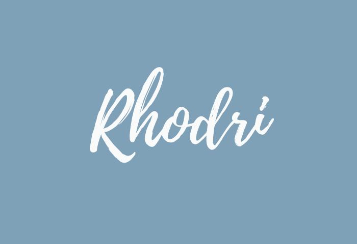 Rhodri name meaning