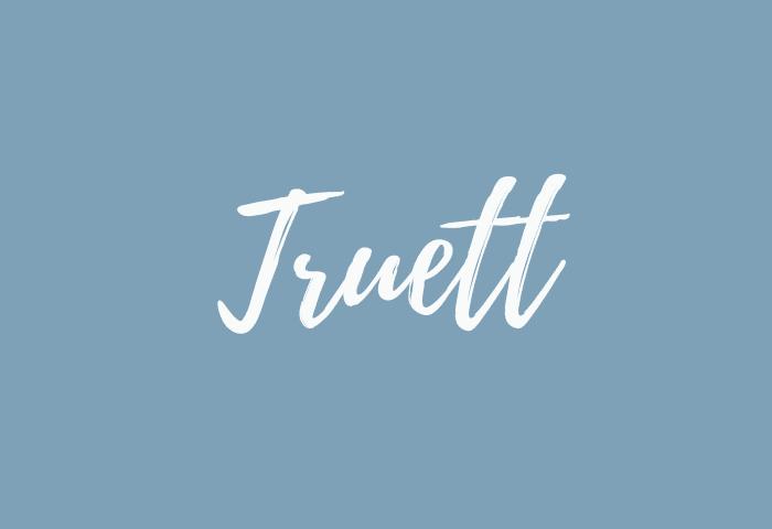 Truett name meaning