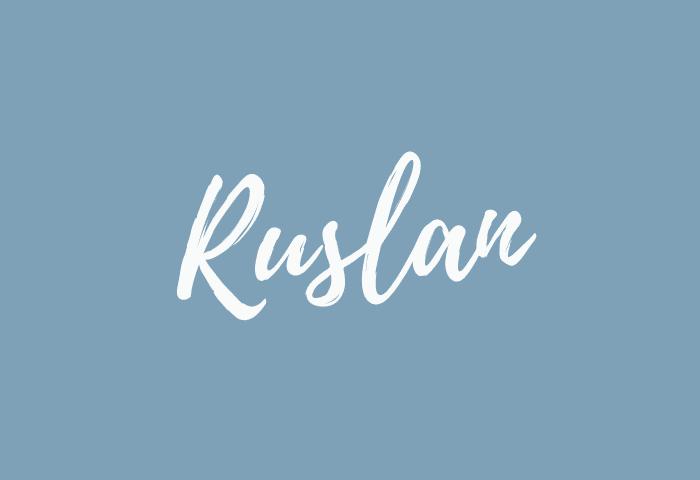 Ruslan name meaning