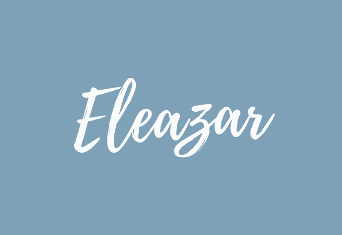 eleazar name meaning