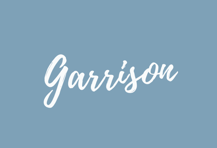 garrison name meaning