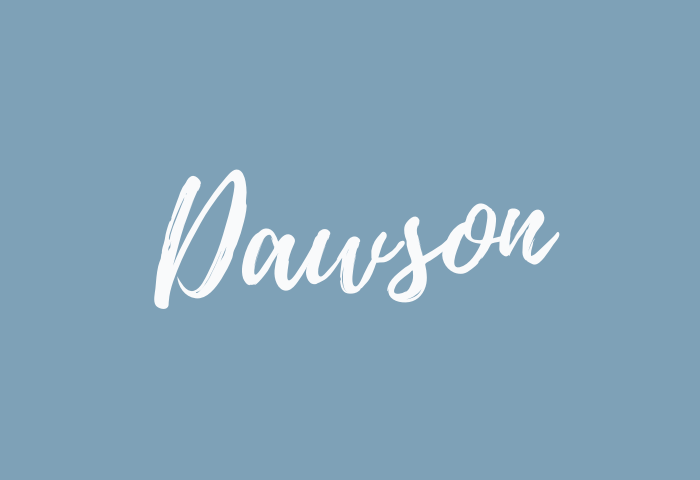 Dawson Name Meaning
